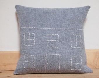 Mini House Cushion Made With 100% Soft Lambswool