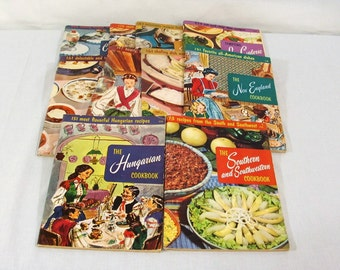 Vintage Cook Booklets, Culinary Arts Institute, Collection of Ten, 1950s