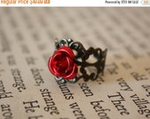 ON SALE Fairy Tale Rose Ring