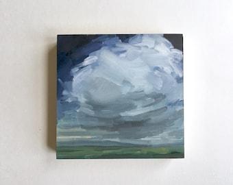"Churning  • original oil painting 5x5"""