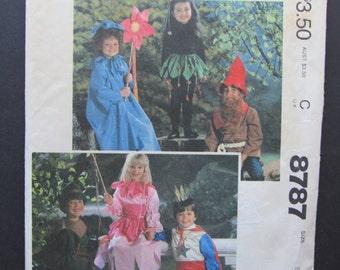 McCalls 8787/Uncut Vintage Sewing Pattern/Children's, Boys, Girls Costumes/Size 2-4/1983/Princess/Flower/Elf/Gnome/Prince