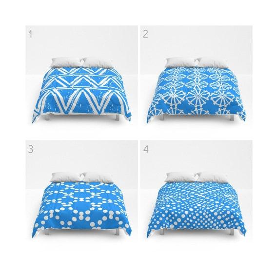 Sky blue and White Comforter - Queen Comforter - King Comforter - Full Comforter - Twin Comforter Blue Twin XL  Bedding Bedspread Bed