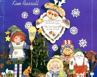 Holiday Keepsakes Painted Wood Patchwork Witch Santa Scarecrow Cows Pigs Abra Ham Lincoln Tom Turkey Rabbit Pilgrims Craft Pattern Leaflet