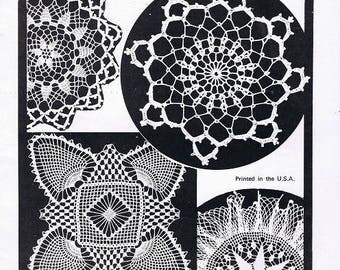 Crochet Lace Volume 28 Craft Patterns by Elizabeth Hiddleson Vintage 1970s Doilies Tablecloths Round Square Pineapple Ruffles Picot Magazine