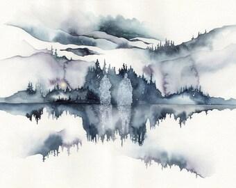 Winter Spirits Watercolour 11x14 Print