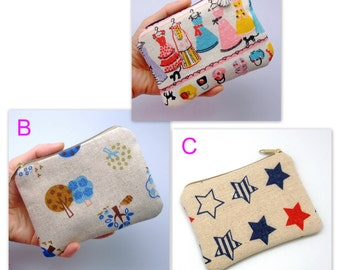 BIG SALE - Small zipper pouch / coin purse /ear phone bag/ card holder (padded) (GP14)