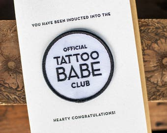 Tattoo Babe Club Card & Patch