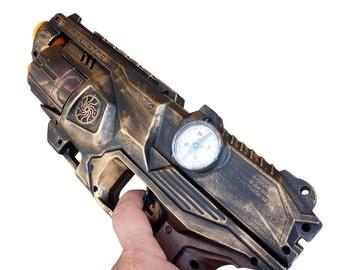 Steampunk  Elite Disruptor toy Gun  Zombie walking man Nerf soft dart Vampire Victorian cosplay Limited