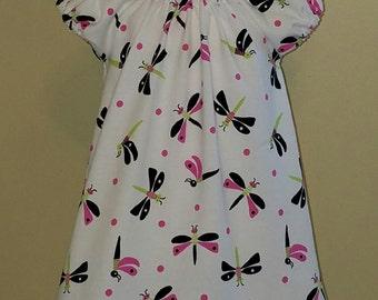 STORE CLOSING, Dragonfly, Knit Peasant Dress, Spring, Summer, 3-6 mo, 6-9 mo, 12 mo, 18 mo, 2 3 4 5 6