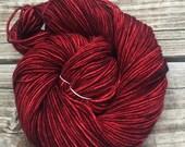 Hand Dyed DK Yarn Ruby Da...