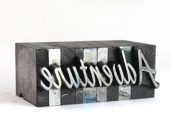 ADVENTURE - 48pt Vintage Metal Letterpress