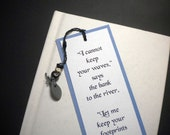FOOTPRINTS - Beaded bookmark with inspirational quote by Tagore