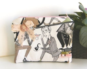 The Ghastlies purse, make up bag , crafts  , handmade,Claudia Candeias, ready to ship