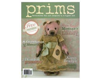 2013 Prims Magazine, Primitive Magazine, Primitives, Doll Making, Primitive Dolls, Craft Books, Folk Art Dolls by NewYorkTreasures on Etsy