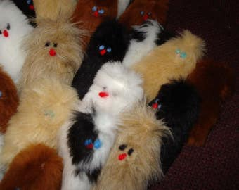 25 Finger Puppers faux fur assorted  animal colors