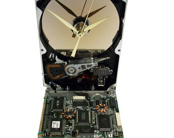 Hard Drive now a Clock with Rare Circuit Board Accenting the Base. Got Company Award or Gift?