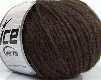 Peru Alpaca Bulky Yarn Dark Brown -  #47679 Ice Merino Wool Alpaca Acrylic 50g 65y