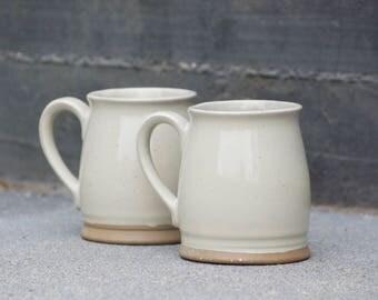 Ceramic Mug - Set of mugs - Coffee mugs  - Rustic modern mug  - Housewarming gift - off white pottery - Farmhouse pottery - Ready to ship