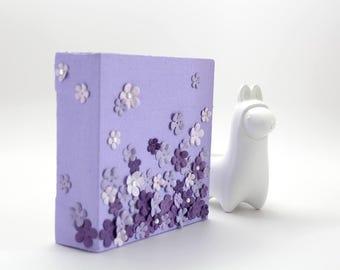 Art -- Pink -- Purple-- Canvas -- Flowers -- Nursery