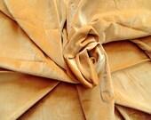 Vintage Velveteen fabric, Harvest Gold fabric, mid century material, 1970's fabric, vintage material, sewing, craft fabric, retro material