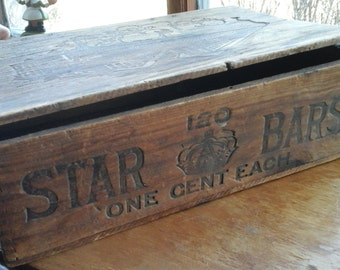 Vintage Star Bar Candy Bar Box by Allen and Croft 1916