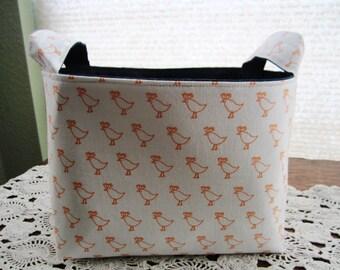 Fabric Organizer Basket Storage Bin Container - Chicks