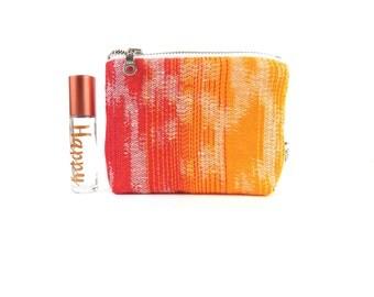 Ity-Bity Zipper Pouch - Frankly Iris Wrap - rainbow wrap accessory mini change pouch Zip Wallet Change Purse roller bottle case