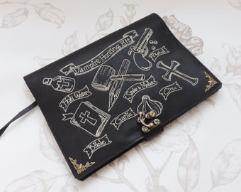 Faux leather gothic journal-victorian Journa-l notebook -diary- steampunk gothic- Vampire hunter-