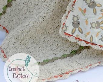 Shell stitch, crochet, baby blanket, baby shower gifts, reversible baby blanket, crochet patterns, PDF, Instant download, blanket pattern