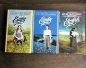 Set of 3 by L.M. Montgomery, Emily of New Moon, Emily Climbs, Emily's Quest, Vintage Paperbacks, Children's Books