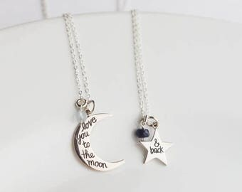 Mother Daughter Necklace Set - Mothers Day from Daughter - Mother Daughter Gift - Mom Daughter Necklace - Mommy Daughter Jewelry  Mom and Me