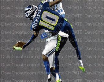 Paul Richardson, Seattle Seahawks. Art Photo Print