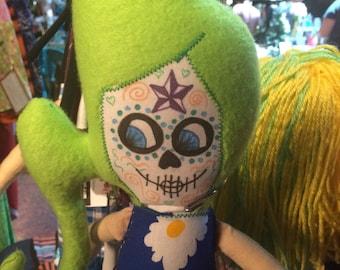 Sugar Skull Penelope Doll handmade OOAK