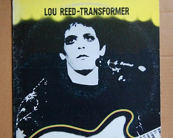Vintage Lou Reed LP Vinyl Record Transformer RCA Dynaflex 1977 Reissue 70s Rock and Roll Music Collectible