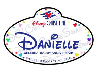 Disney Cruise Personalized Name Tag Door Magnet