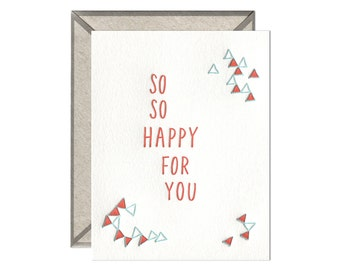 So So Happy letterpress card