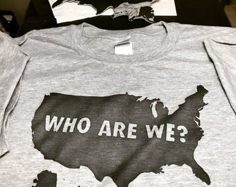 Who Are We t-shirt by CraftSanity Press