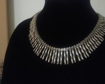 Jakob Bengel Art Deco 1930 s Machine Age Necklace Germany Mauerwerk Free Shipping To The Usa and Canada