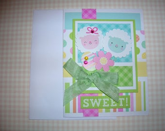 Sweet Card Handmade Spring Greeting SWEET