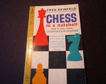 Vintage Book - Chess in a Nutshell by Fred Reinfeld 1960 edition - How to play paperback retro book gift for gamers old school