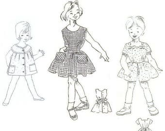 Lot of 3 1950s Little Girls Dress Sewing Patterns 3-5 years old
