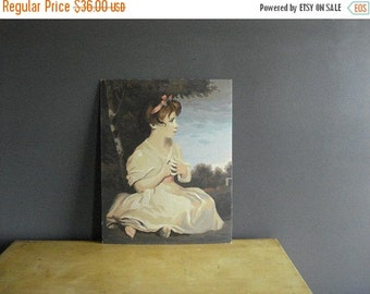 30% off SALE Gorgeous Paint By Number - Vintage Age of Innocence Painting Joshua Reynolds - Young Girl PBN