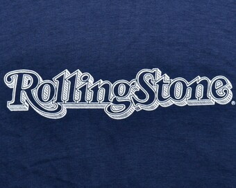 Vintage 70s ROLLING STONE MAGAZINE T Shirt Rock & Roll Concert Screen Stars Small S Extremely Rare