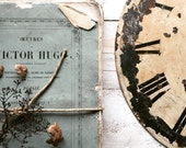 Vintage metal clock face