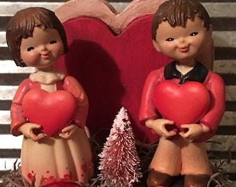 Vintage Valentine Gift Box Diorama