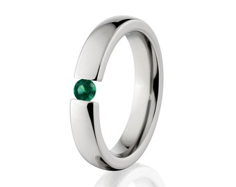 Tension Set- Emerald- Ring-Uniquely You-   4HR-P-Tension-Emerald