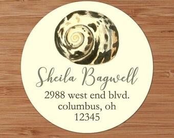 Nautical Seashell -  Custom Address Labels or Stickers