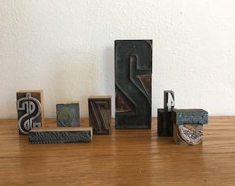 Collection of Letterpress Blocks set of 9