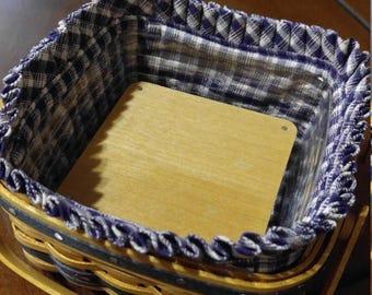 Collectors 2 Pie Miniature Basket Set-- 2 pc set--HARD FIND--Vintage  15% off all 40 dollar and under vintage listings