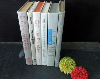 Grey Books for Decor - Book Stack - Wedding Centerpiece Decor - Bookshelf Decor